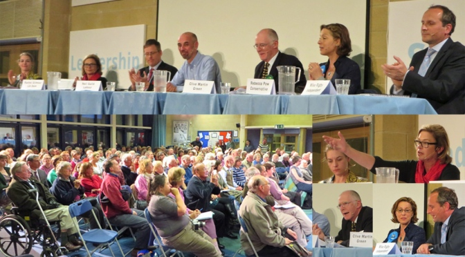 Election hustings on climate