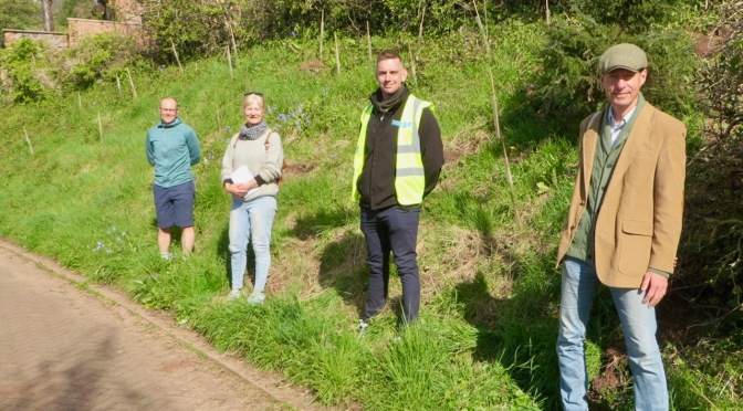 Wildlife-friendly planting provides welcome to Wivey